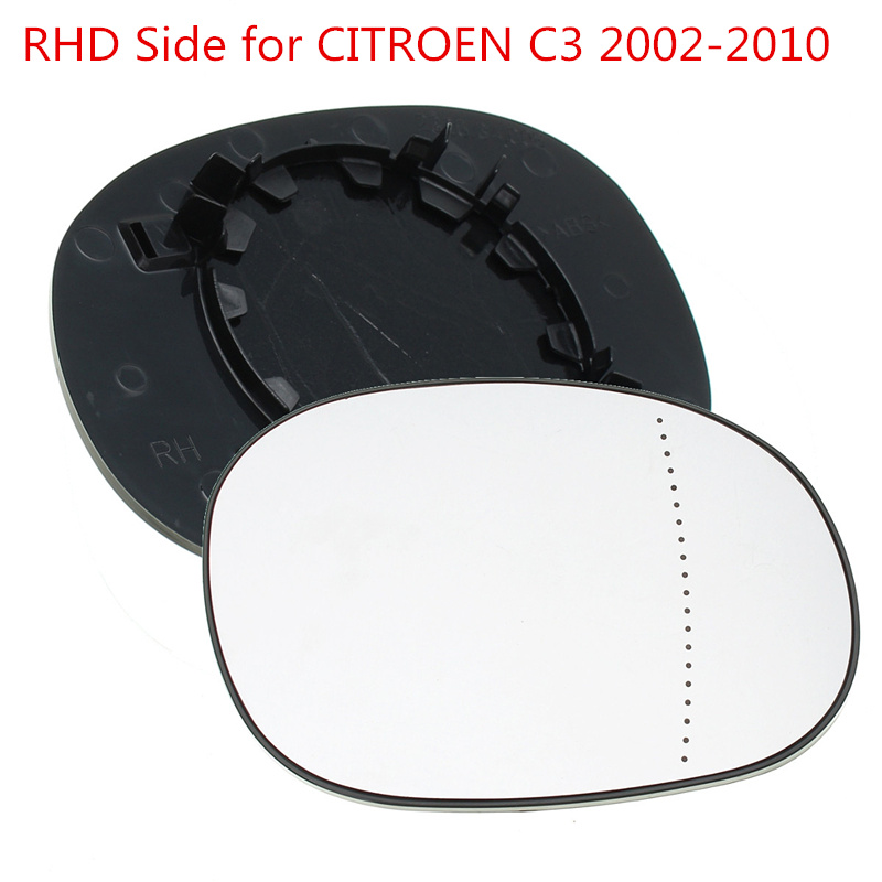 Wing Side Mirror Glass Aspherical LEFT Fits CITROEN C2 C3 PEUGEOT 206 2003-2009