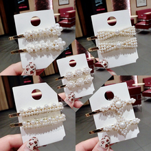 Sale 1PC Korean Vintage Pearl Women Wedding Elegant Hair Clip  Sweet Girls Flower Hairpin Fashion Jewelry Gifts