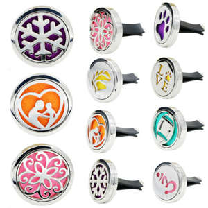 Essential-Oil-Diffuser Air-Freshener Steel 316L Vent-Perfume 1-Pad Fragrance Outlet Locket-Car