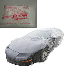 Universal Car Cover Disposable Portable Transparent Waterproof UV Body Rain Dust Snow Garage