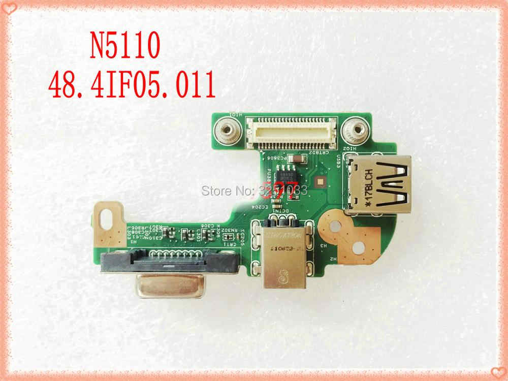 48.4IF05.01 Original para DELL N5110 DQ15DN15 CRT AC DC JACK USB Junta N5110 VGA interfaz 48.4IF05.011 10808-1 100% probado