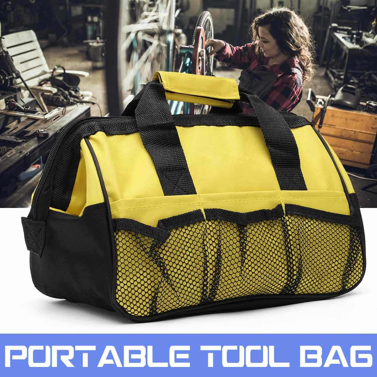 Tool Bag Hard Bottom Heavy   Toolbag With Mulpockets For Tool Storage Appliance Repair Kit 31x18x22cm