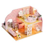 DIY Dollhouse Wooden DollHouse Toys Dollhouse Miniatures DollHouse Kits With Furnitures for Girls Kids