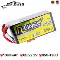 TATTU-batería Lipo R Line de 22,2 V, 1300mAh, Lipo 6S, 95C, enchufe XT60, para FLIP FPV, Dron, FPV, Emax