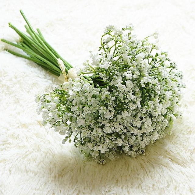 16 шт./компл. для младенцев, искусственные цветы, поддельные Gypsophila DIY Цветочные букеты, композиция для свадьбы дома и сада вечерние украшения