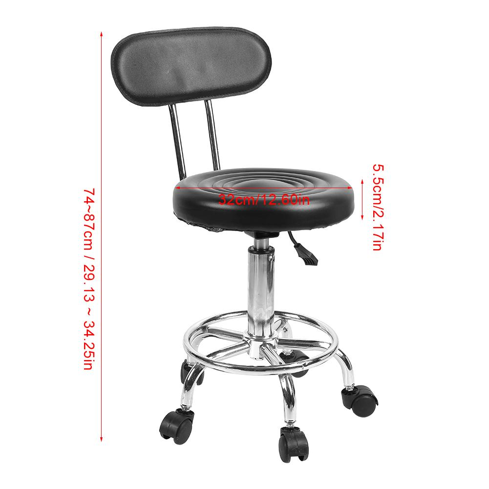 Image 2 - Barber Chair Adjustable Salon Hairdressing Styling Chair Barber Massage Studio Tool стул-in Barber Chairs from Furniture