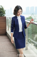 V Neck Ladies Blazer Women Blazers Suit Sexy Long Sleeve Party Female Blazer Jacket Business Female Coat Black Blue