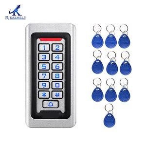 Image 2 - Clavier de contrôle daccès RFID, 2000 utilisateurs, en métal et acier inoxydable, étanche IP68, lecteur de cartes pour lextérieur, sécurité 12V/24V DC et AC