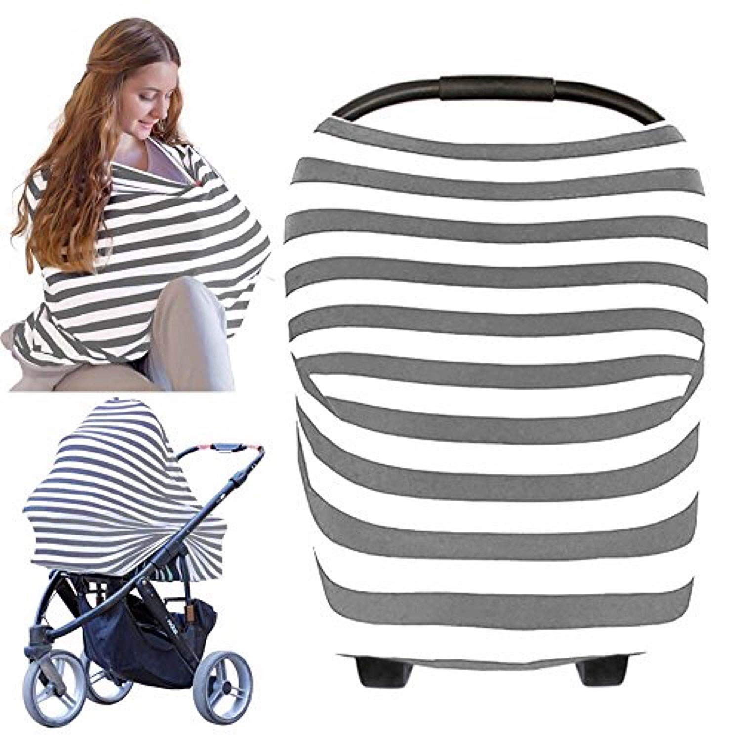 Carseat Canopy Cover - Baby Car Seat Canopy All-in-1 Nursing Breastfeeding Covers Up Baby Car Seat Canopies For Boys Girls St
