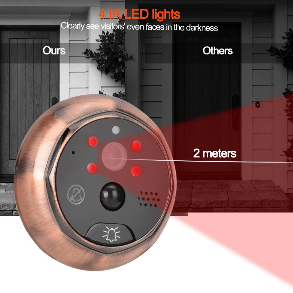 Image 2 - 4.3in Smart WiFi Doorbell Cat Eye Camera IR Night Vision Motion Detection Alarm Unique Detachable Battery Design deurbel-in Doorbell from Security & Protection