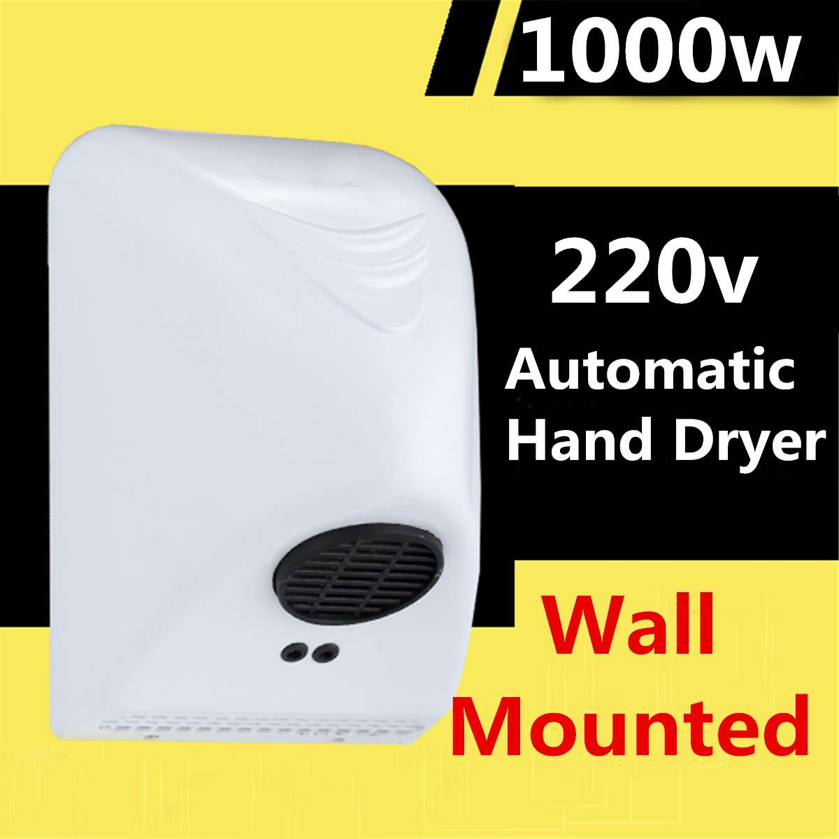 220v 1000W Powerful Wall Mounted Automatic Hand Dryer Bathroom Commercial White Hands Drying Device Bathroom Winding Machine220v 1000W Powerful Wall Mounted Automatic Hand Dryer Bathroom Commercial White Hands Drying Device Bathroom Winding Machine