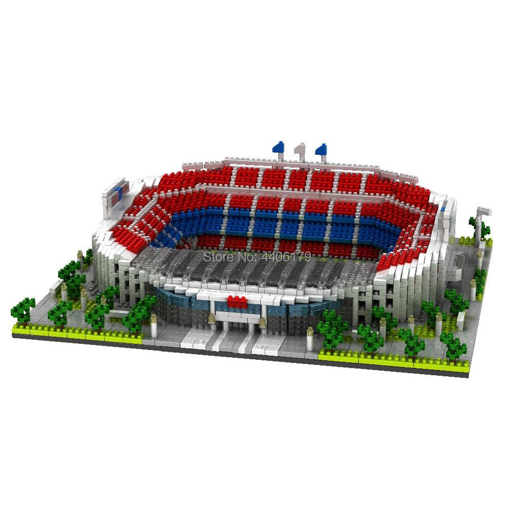 YZ Real Madrid Club Football Field Stadium Mini Diamond Building Nano Blocks Toy