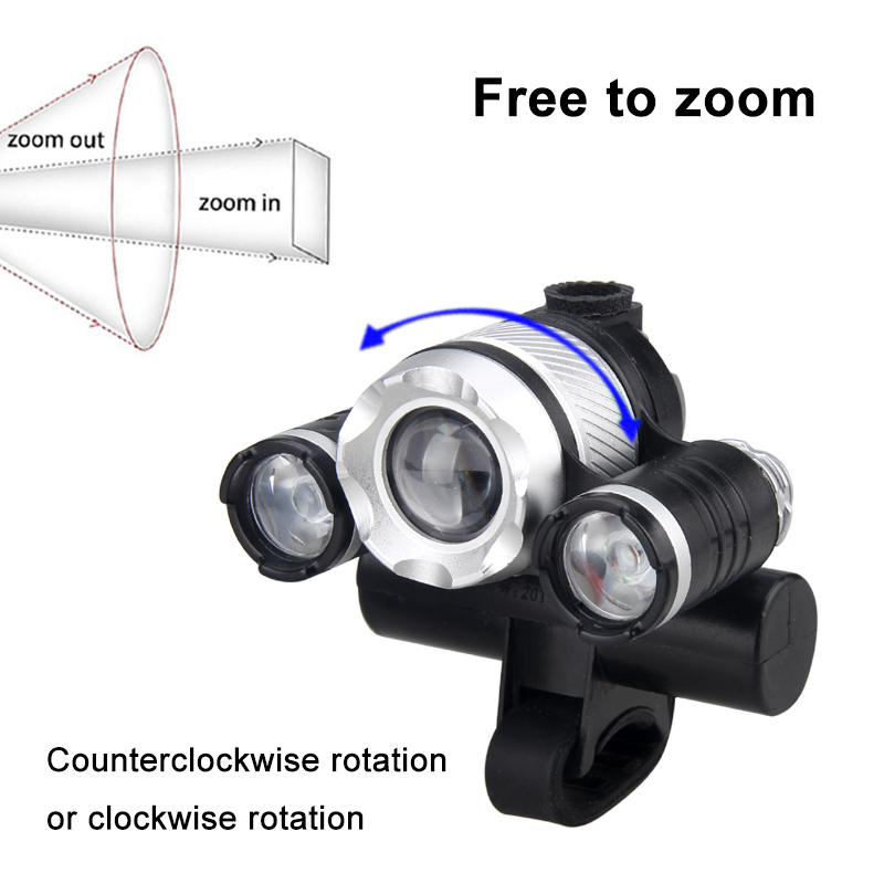 Waterproof Bike Light T6 White Bright Headlight Blue Red XPE Auxiliary Lamp USB Rechargeable Cycling Lamp 4 Modes Flashlight in Bicycle Light from Sports Entertainment
