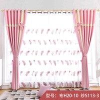Производитель прямой простой сплошной цвет шторы гостиная спальня половина теневая панель готовые шторы многоцветные оптовая продажа