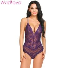 все цены на Avidlove Women Sexy Lingerie Lace Dress Babydoll Plus Size Sexy Underwear Nightwear Sleepwear Flower Sexy Night Bodysuits онлайн