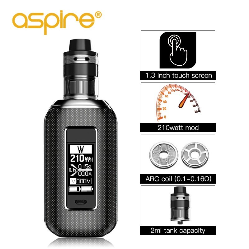 Electronic Cigarette Aspire SkyStar Revvo Vape Kit 210W Box Mod 1.3 inch Touch Screen with E Cigarette Revvo Tank Pk X PRIV Kit