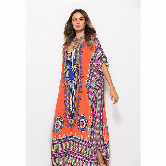 US $15.46 43% OFF|2019 Summer autumn clothes for Women plus size printing  india dress long maxi dresses brazil style high quality fashion vestidos-in  ...