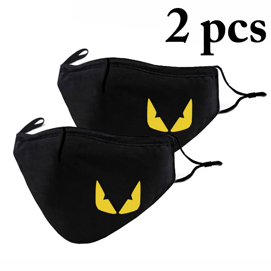 Hot 2pcs Fashion Cute Mouth Mask Fashion Cartoon Anti-dust Cotton Mouth Mask Women Men Face Mouth Masks Dropshipping