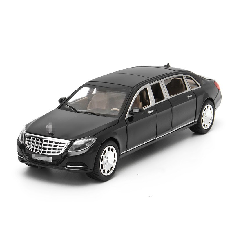 Xmas Gift for Kids 1:24 Mercedes Maybach S600 Diecast Metal Model Car Toy