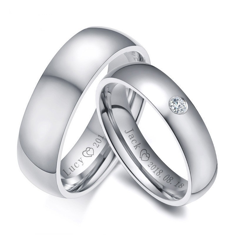 Stainless Steel Matte Finished Universal Language of Grandmother Flat Band Ring