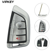 Remotekey 4 Button 315MHZ with Insert smart key for BMW 1 2 3 4 5 6 7 Series X3 X4 X5 X6 Smart Car Key 3248A ID2A N5F ID2A