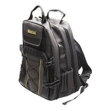 Рюкзак для инструмента KRAFTOOL 38745 (Изготовлен из полиэстера, устойчив к воздействию влаги, легко очищается от загрязнений, предусмотрен специальный крепеж для переноски уровня, регулировка длины ремня)