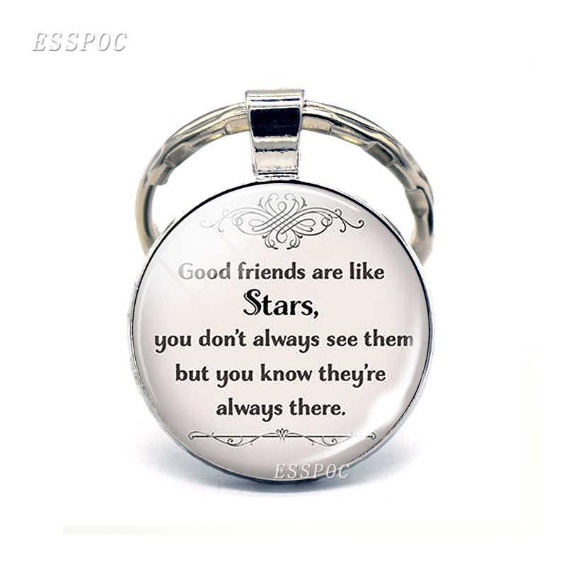 Immer Meine Schwester Beste Freund Mode Silber Metall Glas Schlüssel Kette Ring Schwestern Keychain Anhänger Schmuck Freundschaft Frauen Geschenke