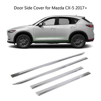รถประตูด้านข้างสำหรับ Mazda CX-5 CX5 2017 2018 ABS Chrome ภายนอก Trim Guard 4 Pcs