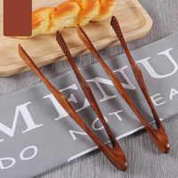 1 pz di Bambù Cucina Pinze Da Cucina Cibo Barbecue Strumento Insalata di Pancetta Bistecca Torta di Pane Clip di Legno Per La Casa Utensili Da Cucina