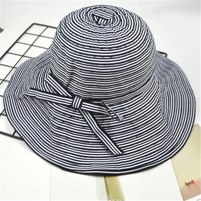 Joker Thin Strips Grain Fisherman Hat Ma 39 am Spring And Autumn Pot Cap Foldable Outdoors Tourism Sun Hat You in Women 39 s Sun Hats from Apparel Accessories