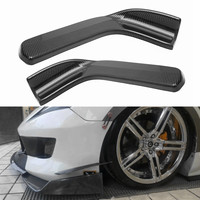 A Pair Carbon Fiber Style Universal Winglet Type Car Front Bumper Lip Diffuser Deflector Spoiler Splitter Canard Lip Body Kit