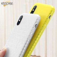 KISSCASE Texture Clear Case for iPhone 7 8 plus X XS Plain Phone case MAX XR 6 6S Plus Soft TPU Cover Capa Funda
