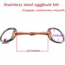 SS гоночный ягодичный бит, corkcrew медный соединенный рот. Конный продукт, конный гоночный продукт(BT0320