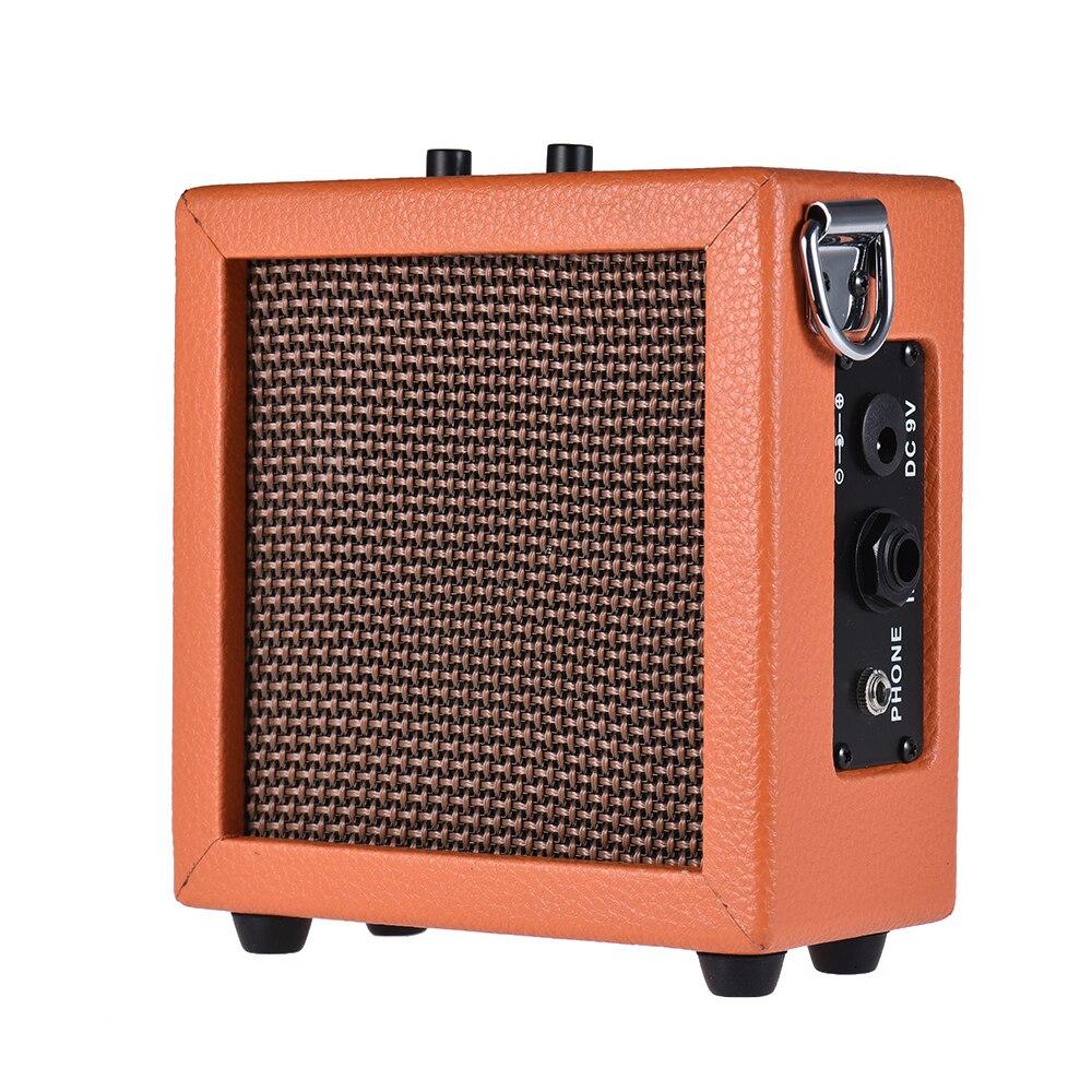 mini guitar amplifier bass ukulele guitar amp speaker battery powered high sensitivity 3 watt 9. Black Bedroom Furniture Sets. Home Design Ideas