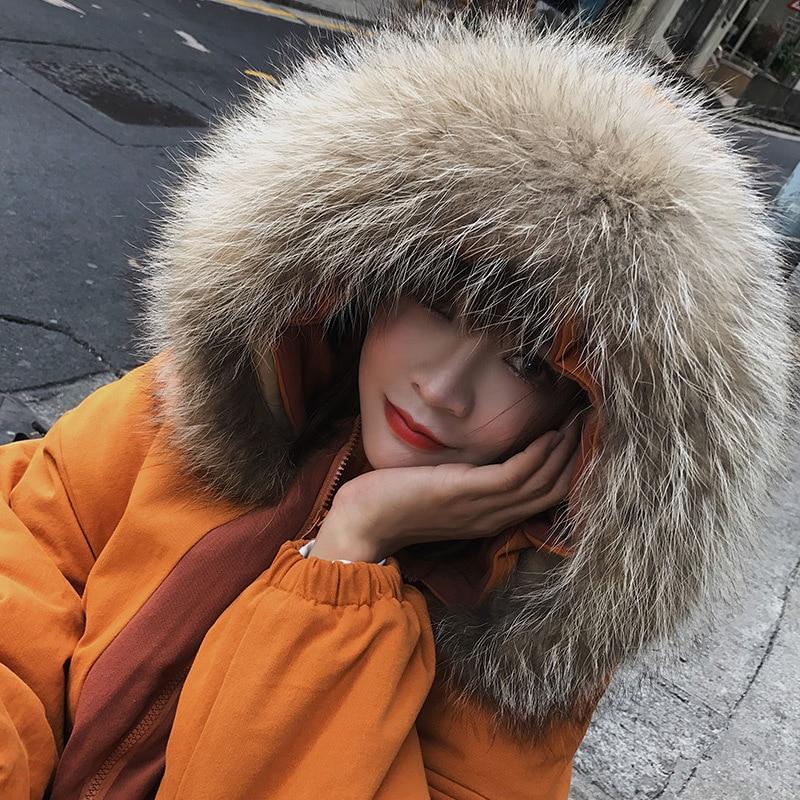 Brown Mode Chaud yellow De Femme Parkas Veste Outwear Manteau Col Épaississement Fourrure Femmes D'hiver Grande À Capuchon qnrB7qwZ4H