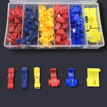 96Pcs Insulated 0.5-6mm Cable Connectors Terminal Kit 22-10 AWG Quick Splice Wire Connector Crimp 40pcs blue t tap insulated quick splice wire terminal spade crimp connector combo set 2 5 4 0mm2 awg 16 14