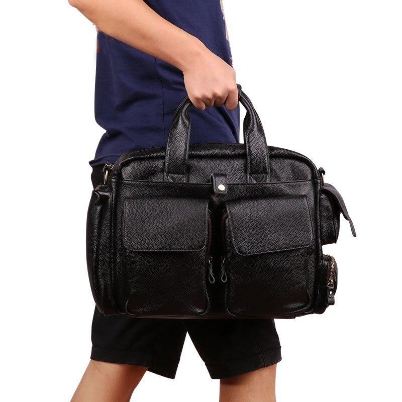 Brand 15 Men Business Bags Men Laptop Briefcase Male Genuine Leather Computer Work Bag Large Vintage Handbags for ManBrand 15 Men Business Bags Men Laptop Briefcase Male Genuine Leather Computer Work Bag Large Vintage Handbags for Man
