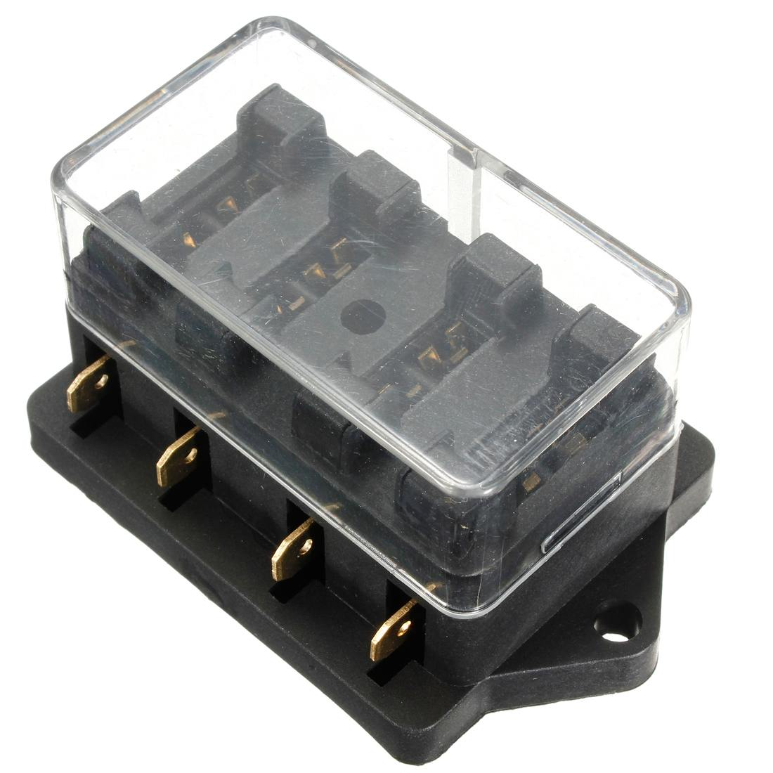 sicherungen & sicherungsboxen car motorcycle quad bike fits 99% cars 4 way  universal standard 12v fuse box