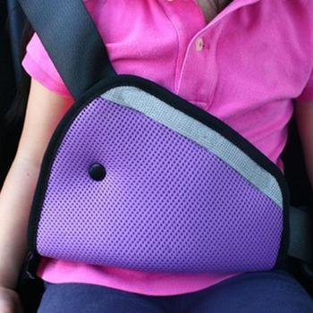 Kids Car Safe Fit Seat Belt Adjuster Baby Safety Triangle Sturdy Device Protection Positioner Carriages Intimate Accessories image