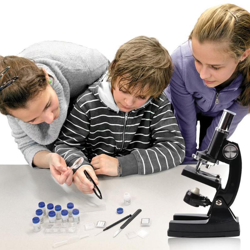 Kit de Microscope biologique LED de laboratoire 100X-450X Microscope biologique maison école jouet éducatif pour enfants enfants jouets de haute technologie