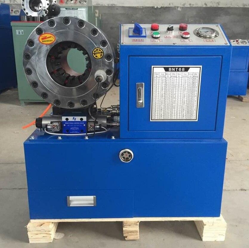 Facile da usare BNT68 condizioni pari al nuovo, 380 v o 220 v 3kw 2 pollici semi-automatico idraulico tubo flessibile di aggraffatura macchina per vendita