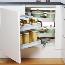 En La Ducha Organizador Despensa Gabinete Stainless Steel Cozinha Cocina Cuisine Kitchen Cabinet Cestas Para Organizar Basket