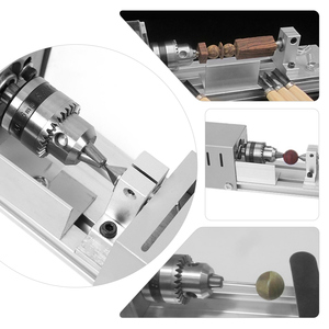 Image 4 - DC12 24V 96W/100W Mini Lathe Beads Machine Woodwork DIY Lathe Standard Set with Power carving cutter Wood Lathe
