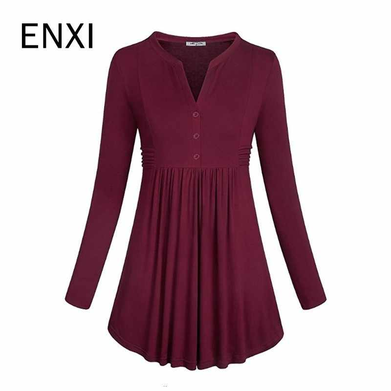Hot Loose Casual Maternity Clothes For Pregnant Women Long Sleeve T-shirt V-neck Pregnancy Breastfeeding Top Shirt For Pregnant