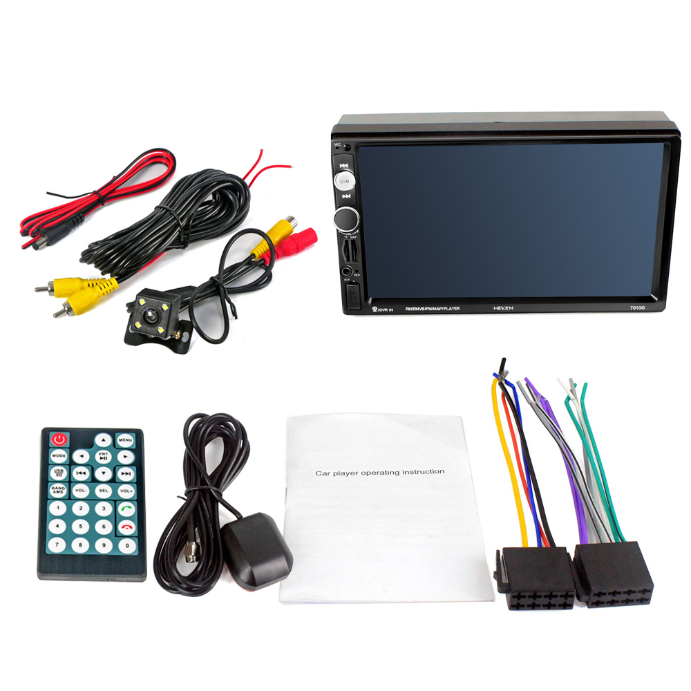 HEVXM 7010g 7 Inch Large Screen Navigator MP5 Player GPS Navigation Rear View Priority Car MP5