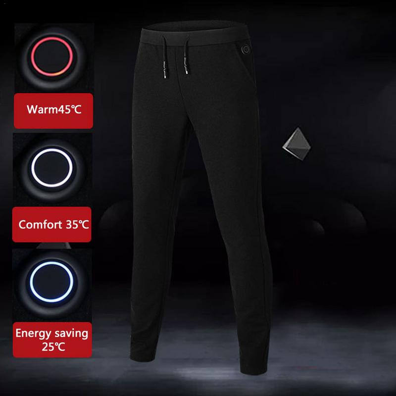 Winter Outdoor Hiking Heating Pants Trousers 3 Mode Adjustable Smart USB Heating Leggings Base Layer Elastic Warm PantsWinter Outdoor Hiking Heating Pants Trousers 3 Mode Adjustable Smart USB Heating Leggings Base Layer Elastic Warm Pants