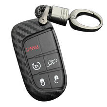 Silica รถ Key Case สำหรับ 14-19 Jeep Grand Cherokee Renegade Dodge Charger Challenger สำหรับ 2015-2017 Chrysler พร้อม key ring(China)