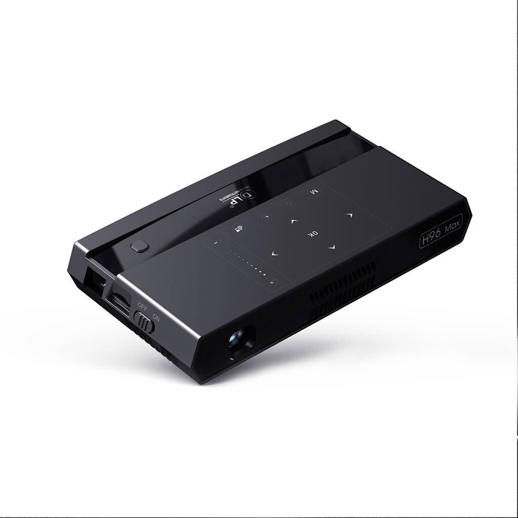 H96 Max Led Portable Home Cinéma Hd Mini Smart Appuyez Sur Les Touches Projecteur Dlp Amlogic S912 8 Core Cpu Android 6.0 2 Gb + 16 Gb Avec Blu