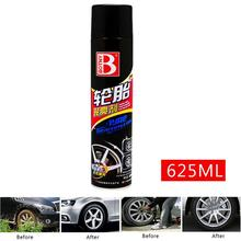 цена на 650ML Tyre Gloss Spray Tire Glazing Keep Tire Black Rubber Protective Auto Tires Coating Agent Kit Coating Agent Wax Beauty Care