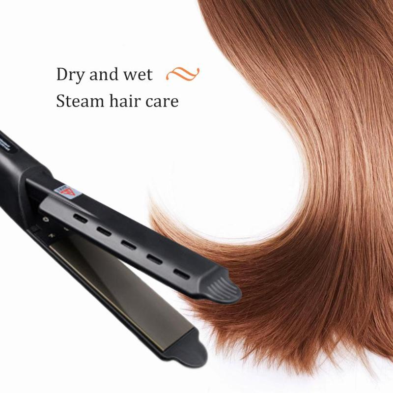 Image 4 - 220V Pro Electric Steam Hair Straightener Vapor Curler Straightening Irons-in Styling Accessories from Beauty & Health